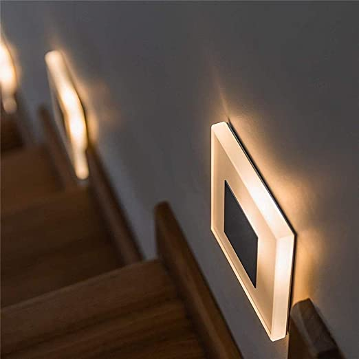 Aplique de pared LED 3W Aplique de pared de acrílico Luz de pie incorporada Escalera interior Luces decorativas de noche Lámpara de pared LED moderna 3W Blanco frío: Amazon.es: Iluminación