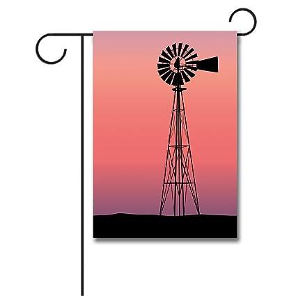 amazon com wondertify garden flags windmill windmill silhouette at