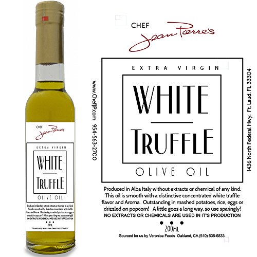 Organic Truffle Oil - White Truffle Oil SUPER CONCENTRATED 200ml (7oz) 100% Natural NO ARTIFICIAL ANYTHING