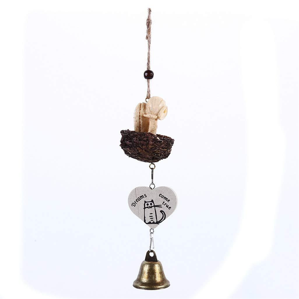 WEILYDF Carillons /À Vent Classique Cr/éative R/ésine Oiseaux Design Yard Home Decor Bell Pendentif Mur Suspendus Vent Cloche Ornements