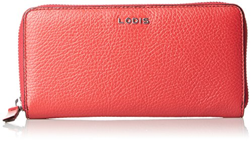 Lodis Kate Joya Zip Around Wallet, Red, One Size (Lodis Lined Wallet)