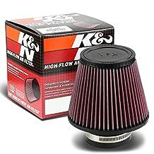 """K&N RU-3580 Universal Rubber 3"""" Round Tapered Intake Air Filter"""