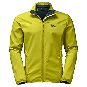 Jack Wolfskin Men's Essential Altis Jacket, Wild Lime, Large