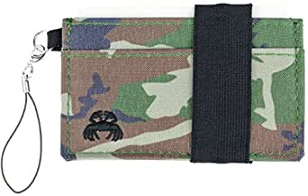 Crabby Wallet - Thin Minimalist Front Pocket Wallet - C3 Canvas Wallet, Armyland, One Size