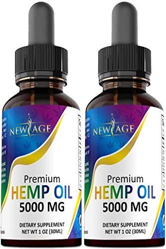 2-Pack 5000mg Hemp Oil