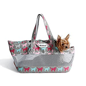 Winthome Pet Carrier for Pets, Travel Soft Sided Pet Carrier for Dogs, Cats and Puppies (Gray)