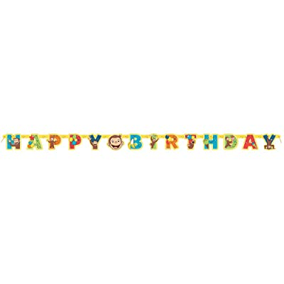 Unique Curious George Large Jointed Banner Birthday Party Supplies: Toys & Games