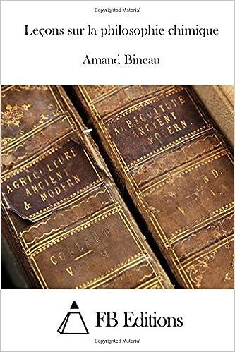 Book Leçons sur la philosophie chimique