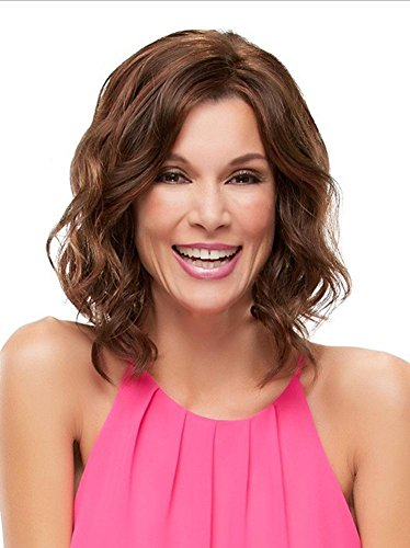 2017 Trendy Modern Bob Short Curly Loose Wave Full Wig for White Women with Natural Hairline , picture color
