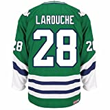 Pierre Larouche Hartford Whalers NHL Reebok Men's Green Name & Number Player #28 Jersey (M)