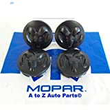 NEW 2005-2015 Dodge Ram 1500 17 or 20 INCH Alloy Wheel MATTE BLACK (4) Center Caps,OEM Mopar by Mopar