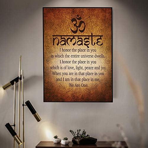 仏教ヨガプリントポスターキャンバス絵画写真家の装飾-60×80センチ×1ピースフレームなし