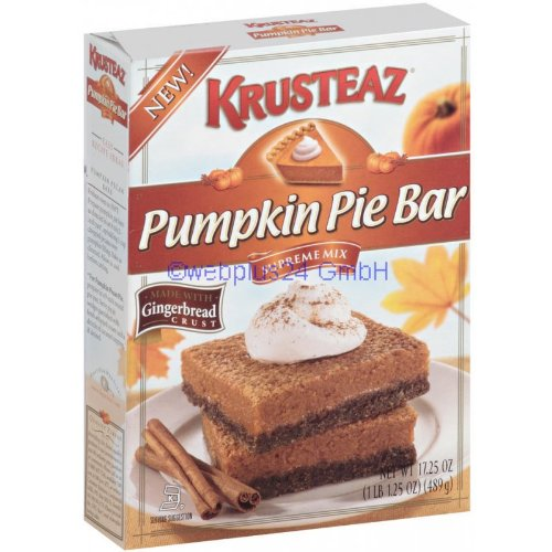 Krusteaz Pumpkin Pie Bar Supreme Mix, One 17.25 Ounce Box