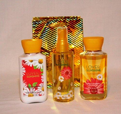 Bath & Body Works – Signature Collection- Love & Sunshine – Travel Size – Gift Set