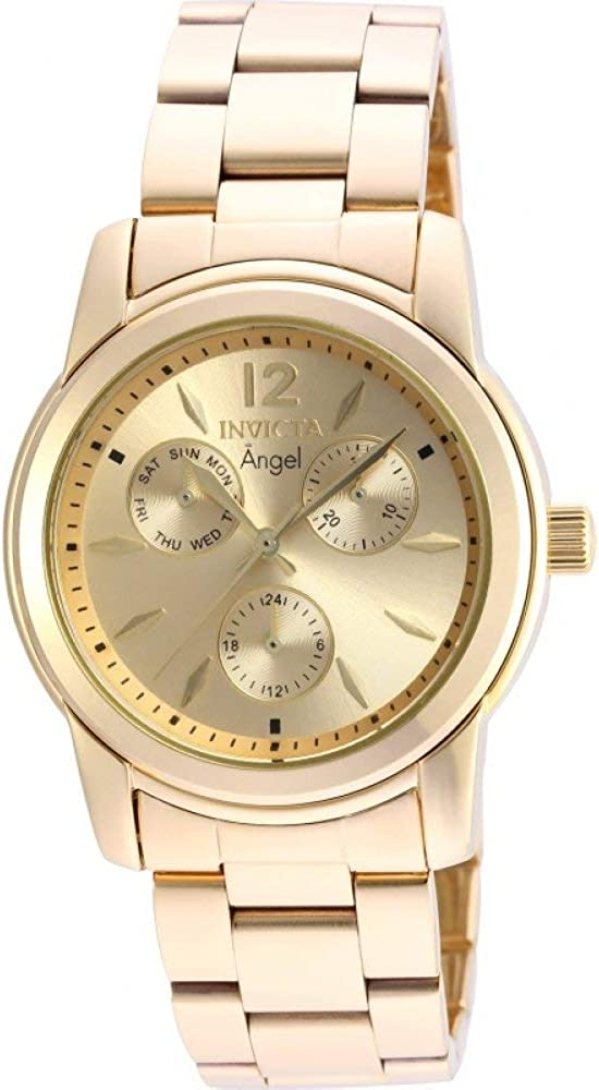 Invicta Women s Angel Quartz Watch with Stainless-Steel Strap, Gold, 20 Model 21691