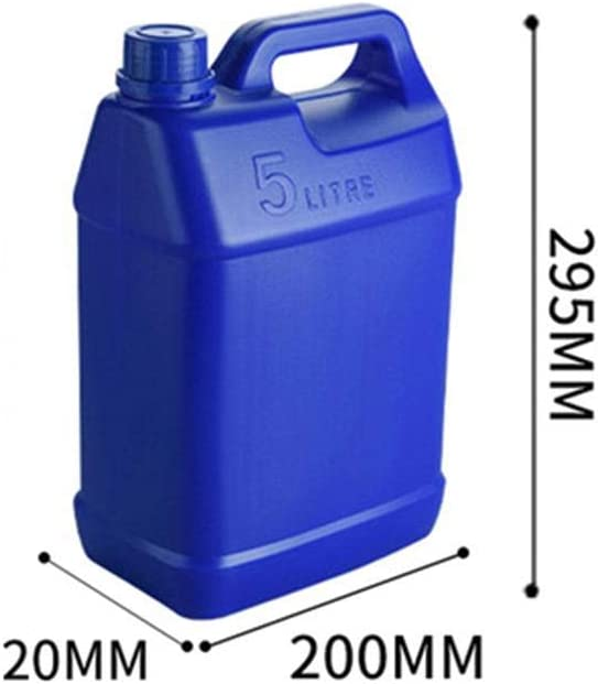 Niumen Portable 5L Gas Fuel Tank Petrol And Diesel Fuel Tank Spare Anti-static Fire-proof Plastic Petrol Tanks Gasoline Oil Container For Car Refueling Household Edible Oil