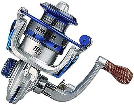 Carrete de pesca LIUCHANG, carrete de pesca en hielo BM150 Baitcasting Tackle Metal exquisito Spinning Wheel Herramientas de pesca al aire libre (color gris) liuchang20, plateado: Amazon.es: Hogar