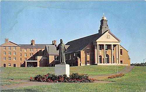 Christ The Teacher Chapel & Statue at Merrimack College North Andover Massachusetts Postcard