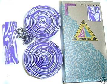 PROFILE DESIGN Lenkerband bar wrap violet weiss    NEU
