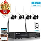 [Expandable System]Wireless Security Camera System, Isotect Full HD 8CH 1080P WiFi NVR Kit with 4pcs 1080P Indoor Outdoor Wireless Video IP Cameras, Remote Playback, 65ft Night Vision, 1TB Hard Drive  For Sale