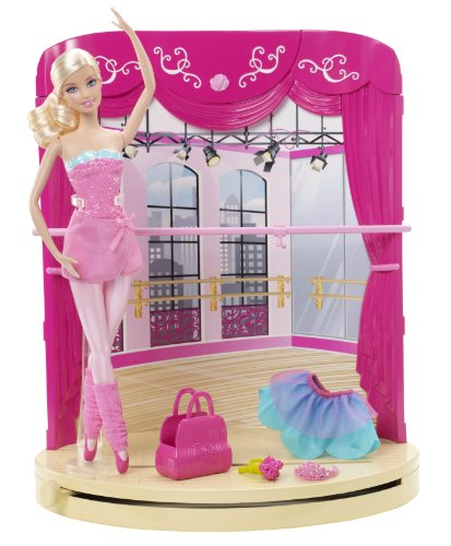 Barbie - Bambola, Barbie ballerina, bambola e playset