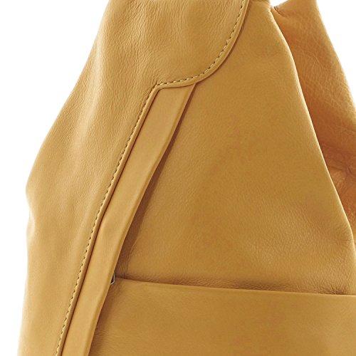 pour sac IO port Borsetta Sac IO à Icone® à femme dos en per à le MIO bretelles main Jaune SPC7Cqx