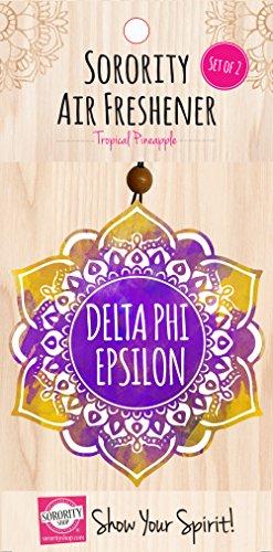 - Delta Phi Epsilon - Mandala Air Freshener - 2/Pack