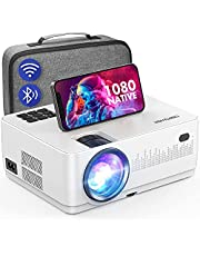 $179 » WiFi Bluetooth Projector, DBPOWER 9000L HD Native 1080P Projector, Zoom & Sleep Timer Support Outdoor Movie Projector, Home Projector Compatible w/ TV Stick, PS4, Xbox, DVD, Laptop/Extra Bag Included