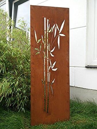 Garten Sichtschutz Aus Metall Rost Gartenzaun Gartendeko Edelrost  Sichtschutzwand 031663 150*50*2CM