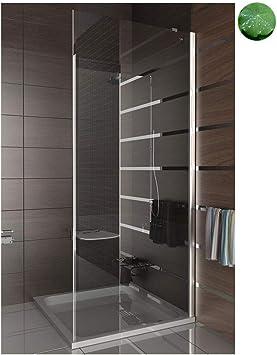 Colgante de la puerta entrada por la esquina de vidrio templado con cal/cristal/90 x 195/mampara de ducha/Duschakbine/ducha/cuarto de baño: Amazon.es: Bricolaje y herramientas