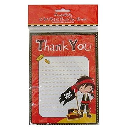 amazon com children s pirate party 10 x invitations 10 x thank you