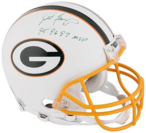Brett Favre Green Bay Packers Autographed White Matte Pro Helmet