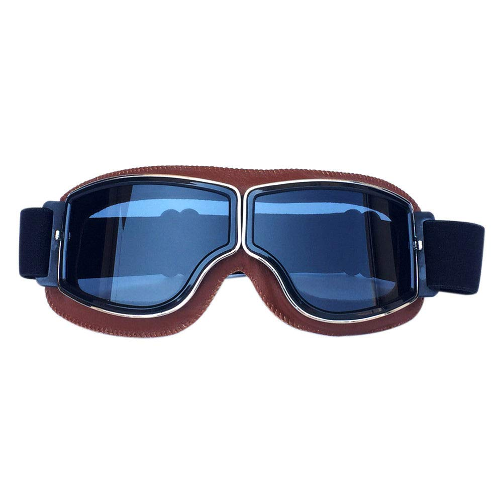 Poonkuos Lunettes de Moto Helmet - Lunettes Anti-Brouillard Ré tro Steampunk Motocross Lunettes Coupe-Vent Harley Scooter pour Jeunes Hommes Femmes Moto ATV en shi shi ang xin shang mao you xian gong si