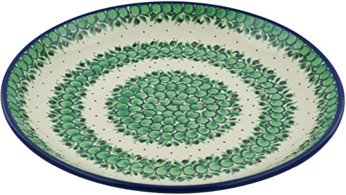 Polish Pottery Lunch Plate 10-inch Sweet Pea UNIKAT