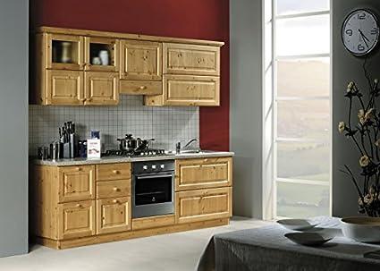 Arredamenti Rustici Cucina rustica in legno massello L240-Colore ...