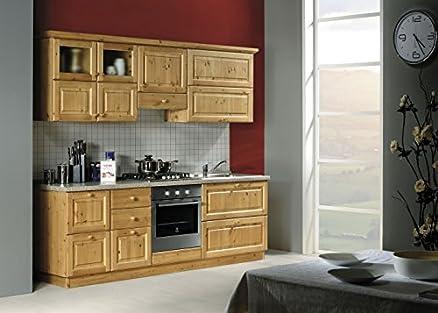 Cucina rustica in legno massello L240-Colore Miele: Amazon.it ...