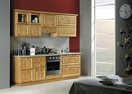 Arredamenti Rustici Cucina rustica in legno massello L240 ...