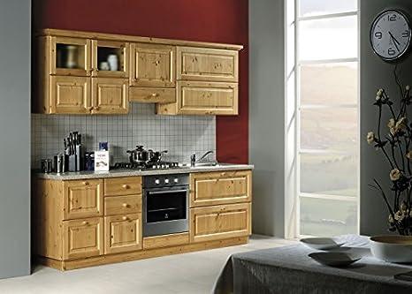 Mobili Rustici In Legno : Arredamenti rustici cucina rustica in legno massello l240 colore