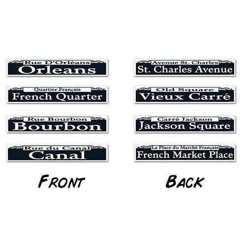 - Mardi Gras Street Sign Cutouts   (4/Pkg)