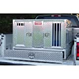 Dual Compartment Aluminum Dog Box With Storage Drawer Tall