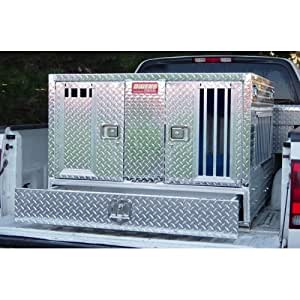 Amazon Com Dual Compartment Aluminum Dog Box With