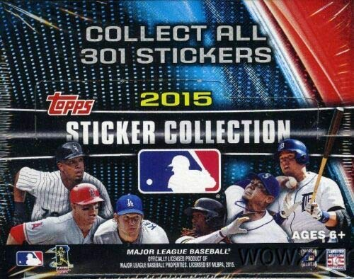 2015 Topps MLB Baseball Sticker Collection Factory Sealed Unopened Box of 50 Packs Containing 400 Total Stickers