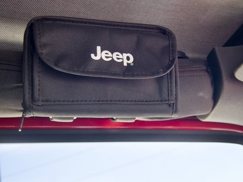 2007-2013 Jeep Wrangler Sunglass Holder with Jeep Logo - Sunglasses 2008