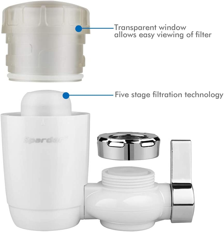 Tap Water Purifier System Filters 2 Pack Spardar Faucet Water Filter