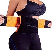 Ladieshow Women's Waist Trainer Corset Belt for Weight Loss Adjustable Abdominal Elastic Waist Trainer Hou