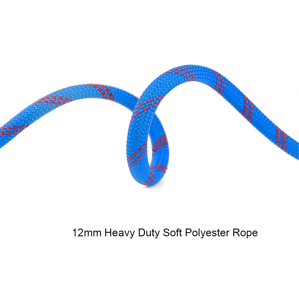 Fire Escape Safety Survival Rope Aoneky 12 mm Static Outdoor Rock Climbing Rope