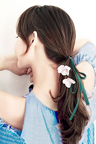 Amazon Com Generic Korean Flower Head Rope Rubber Band Ponytail