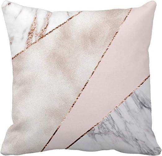 Artifical Rose Gold Marble pillows case throw cushion cover for sofa Home Decor