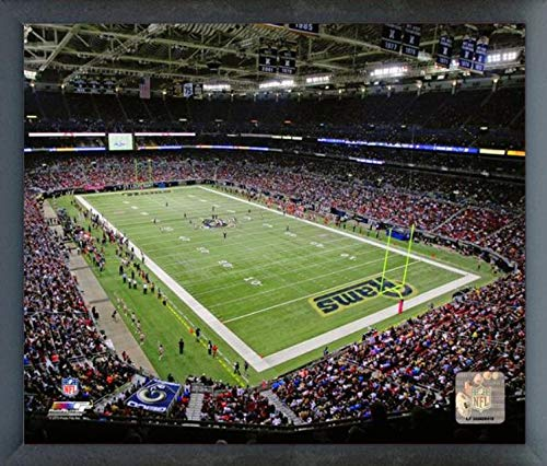 Edward Jones Dome St. Louis Rams Stadium Photo (Size: 17'' x 21'') Framed by Photo File