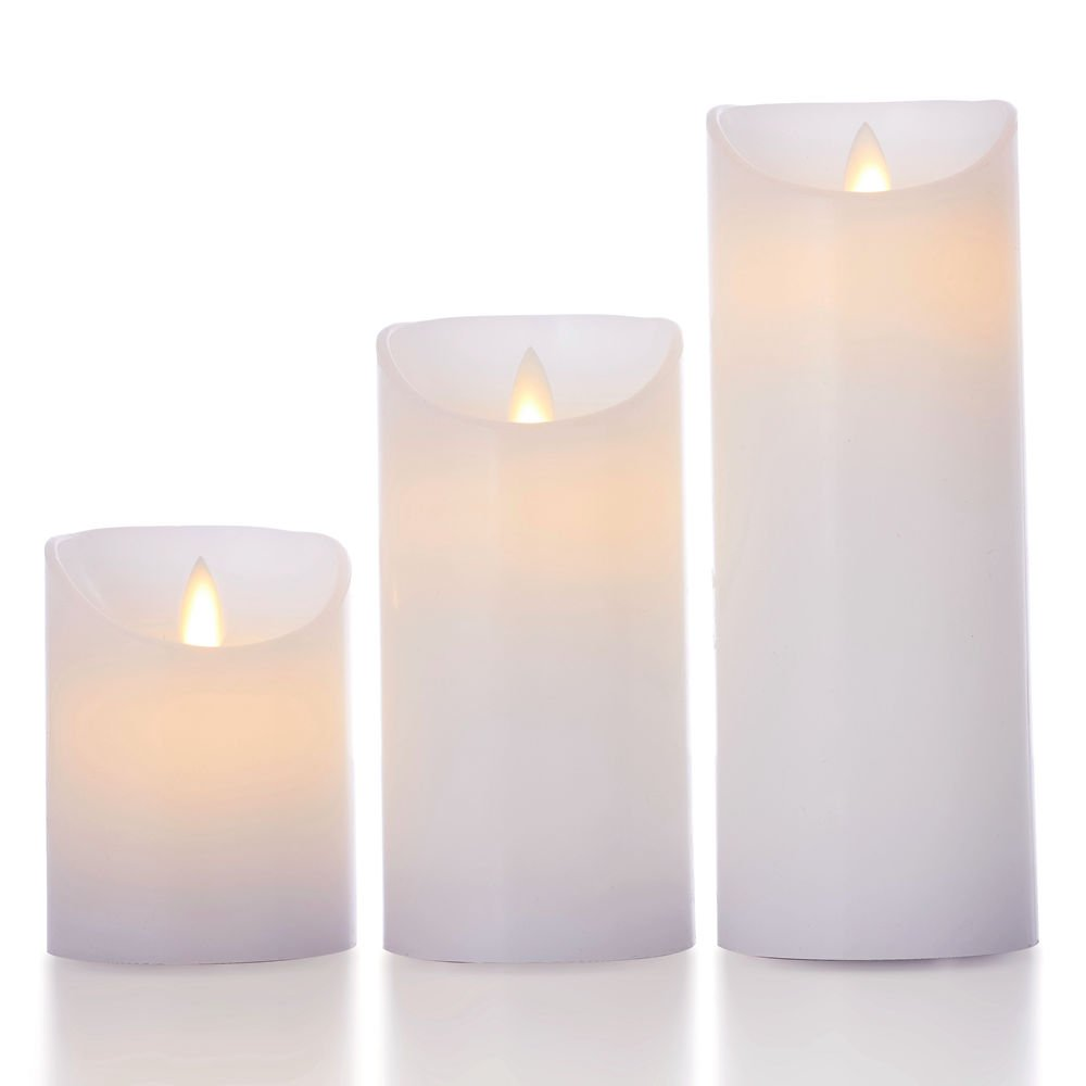 Glowiu Flameless Flickering Led Candles Moving Flame Battery Candle Flicker Circuit Set Of 3h 4 6 8